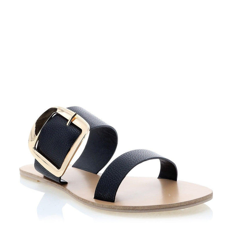 Chania Sandal Black Pebble