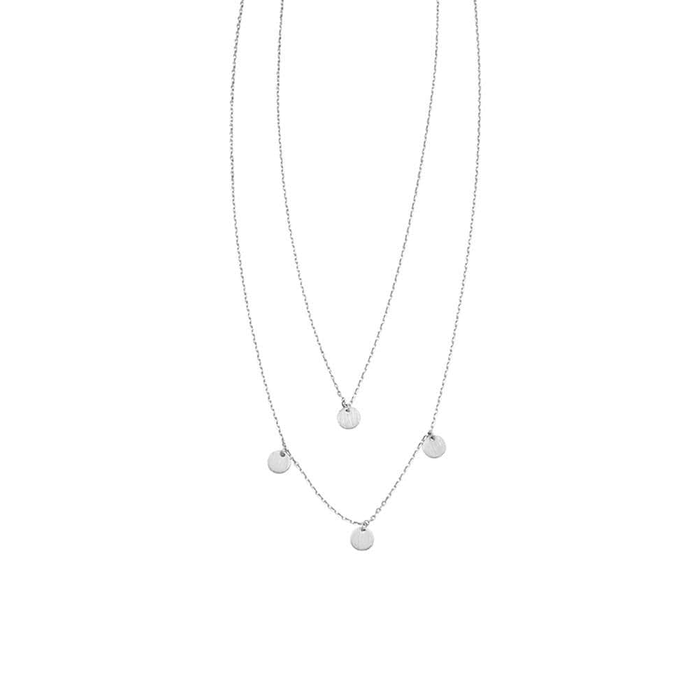 2 Layer Maya Necklace Silver