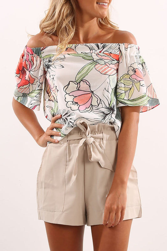 Nellie Top White Floral