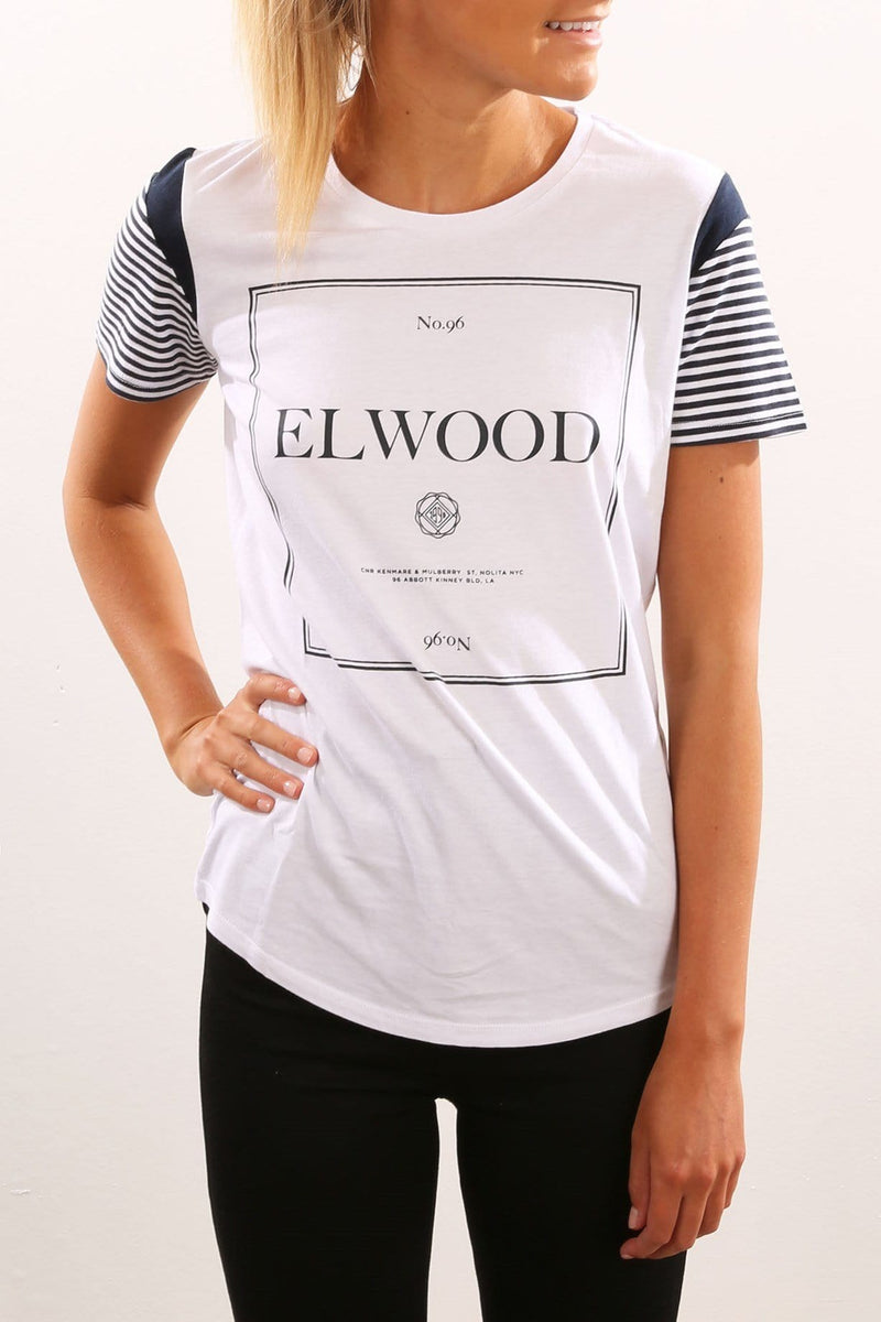 Divide Tee White Elwood - Jean Jail