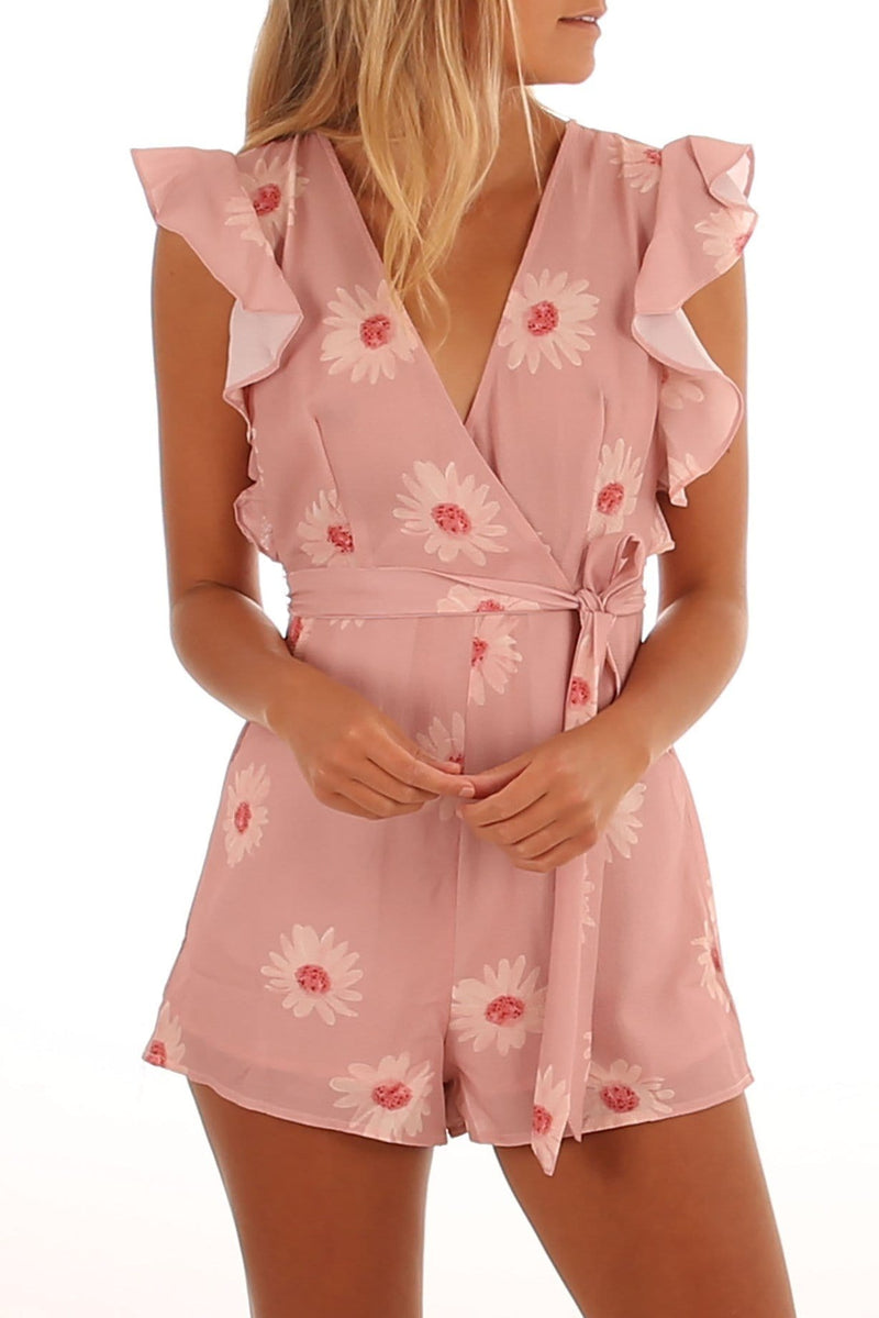 Come Find Me Playsuit Peach Jean Jail - Jean Jail