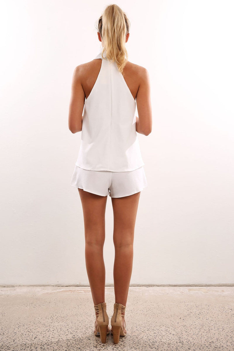 Dreamland Playsuit White Jean Jail - Jean Jail