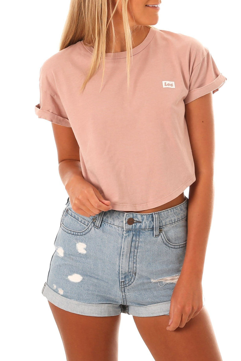 Crop Scoop Tee Smokey Rose Lee - Jean Jail