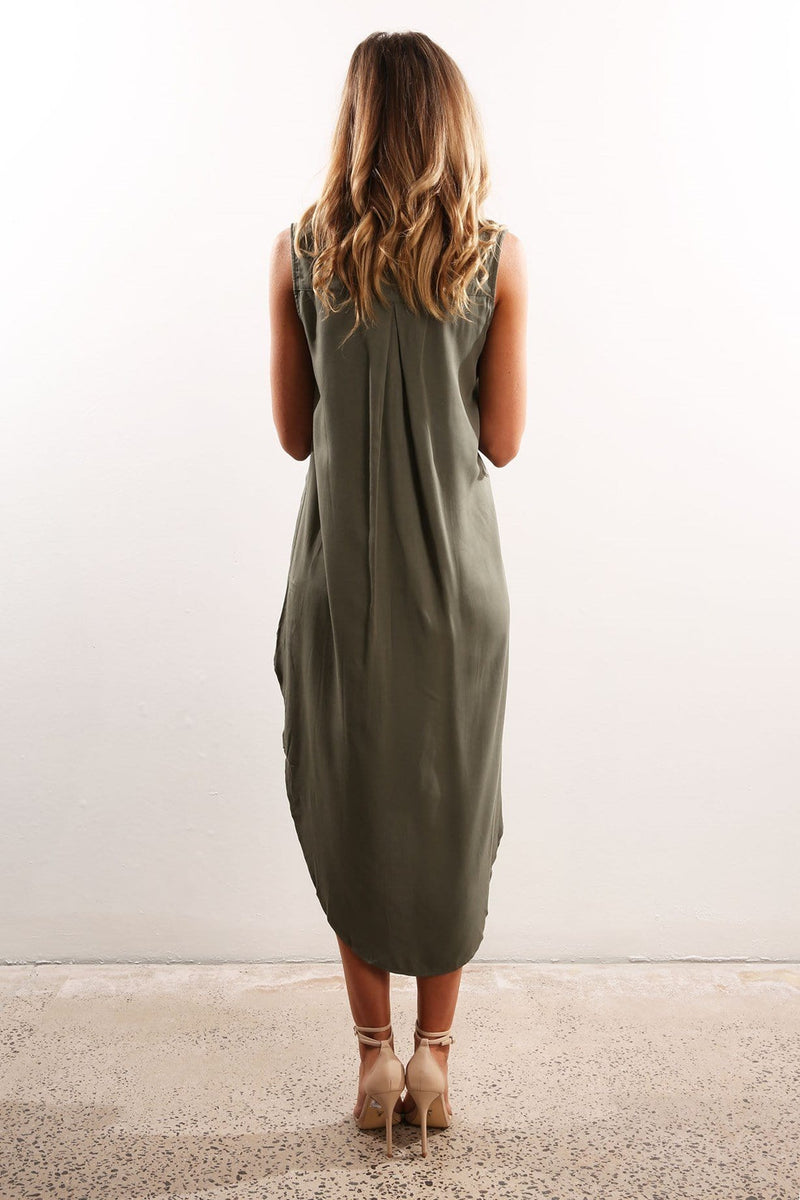 Skyfall Maxi Dress Khaki Jean Jail - Jean Jail