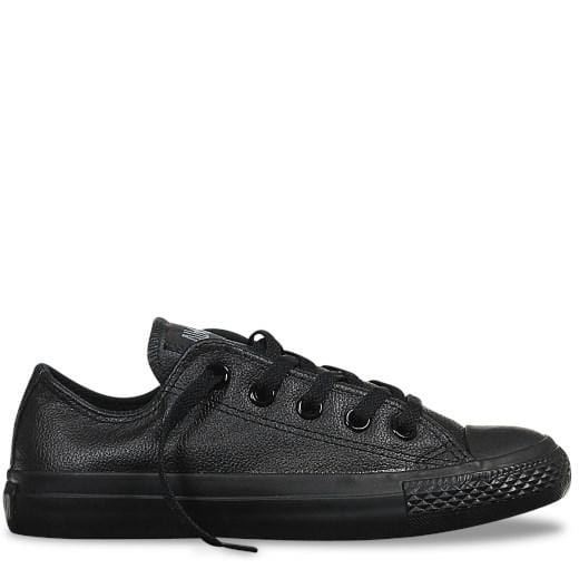 Chuck Taylor All Star Leather Low Top Black Mono Converse - Jean Jail