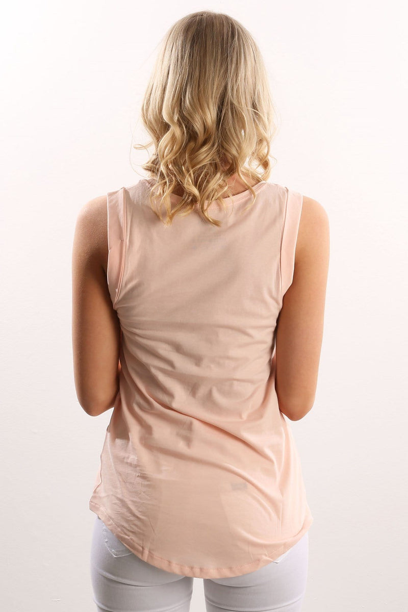 One & Only Grace Singlet Pale Blush Hurley - Jean Jail