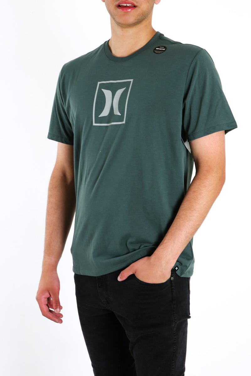 Dri Fit Icon Box Reflection Short Sleeve Vintage Green