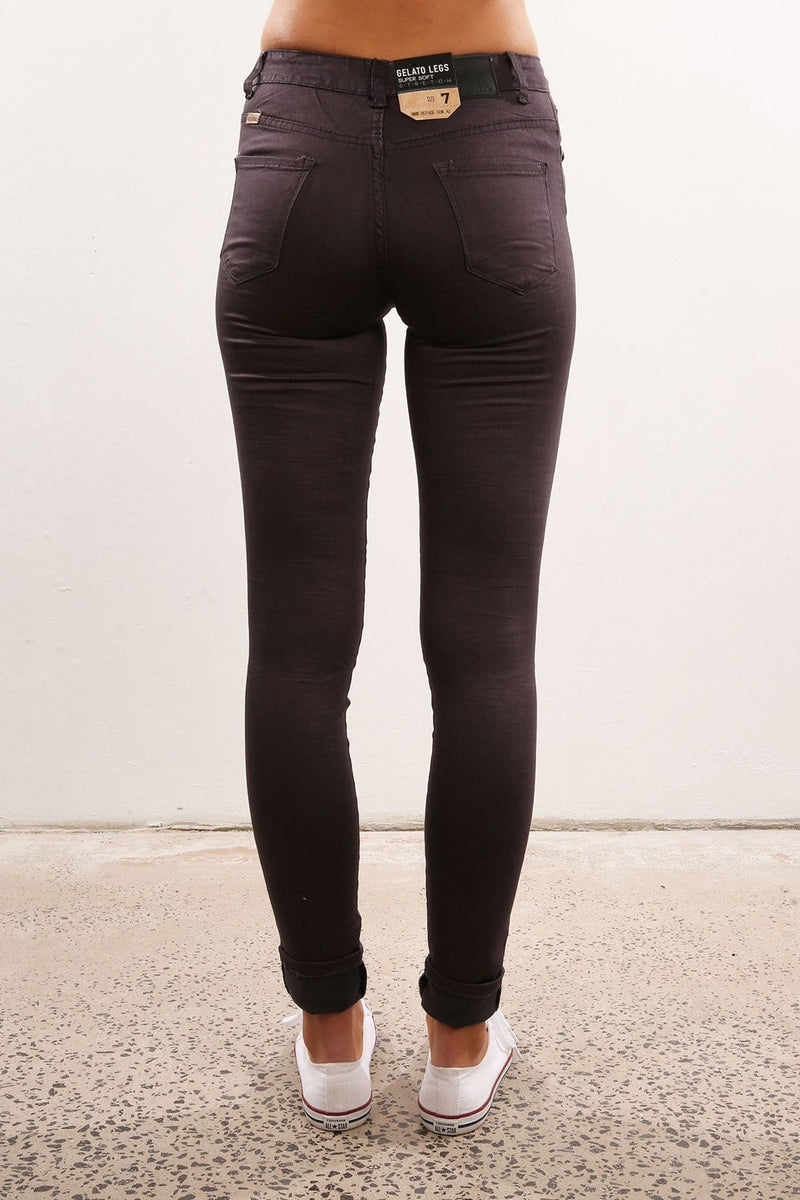 High Waisted Neon Gelato Leg Plum Refuge - Jean Jail