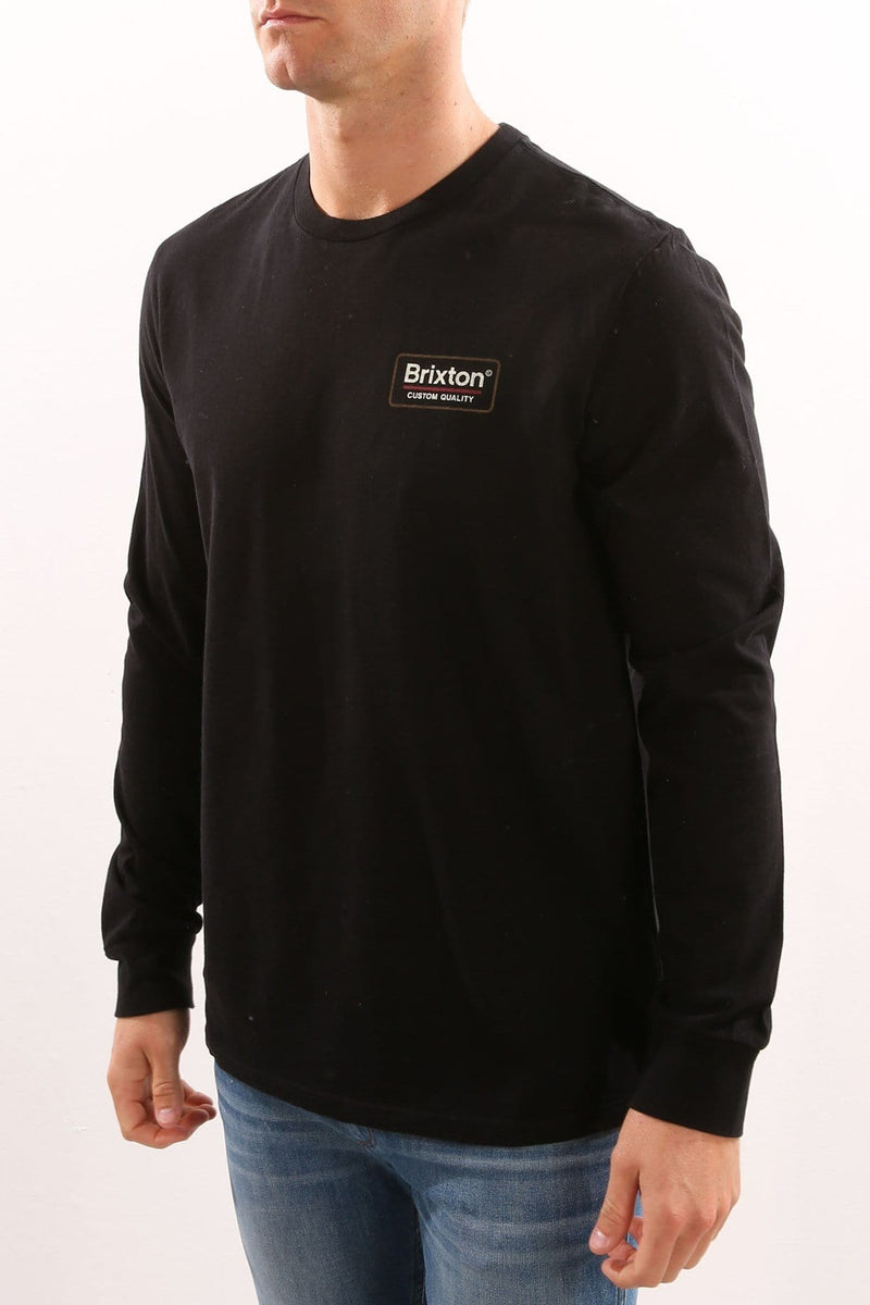 Palmer Long Sleeve Tee Black Brixton - Jean Jail