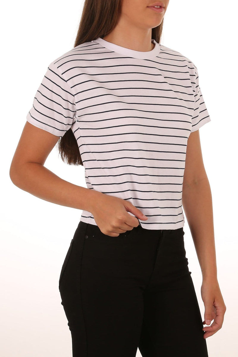Evelyn Tee Navy White Stripe All About Eve - Jean Jail