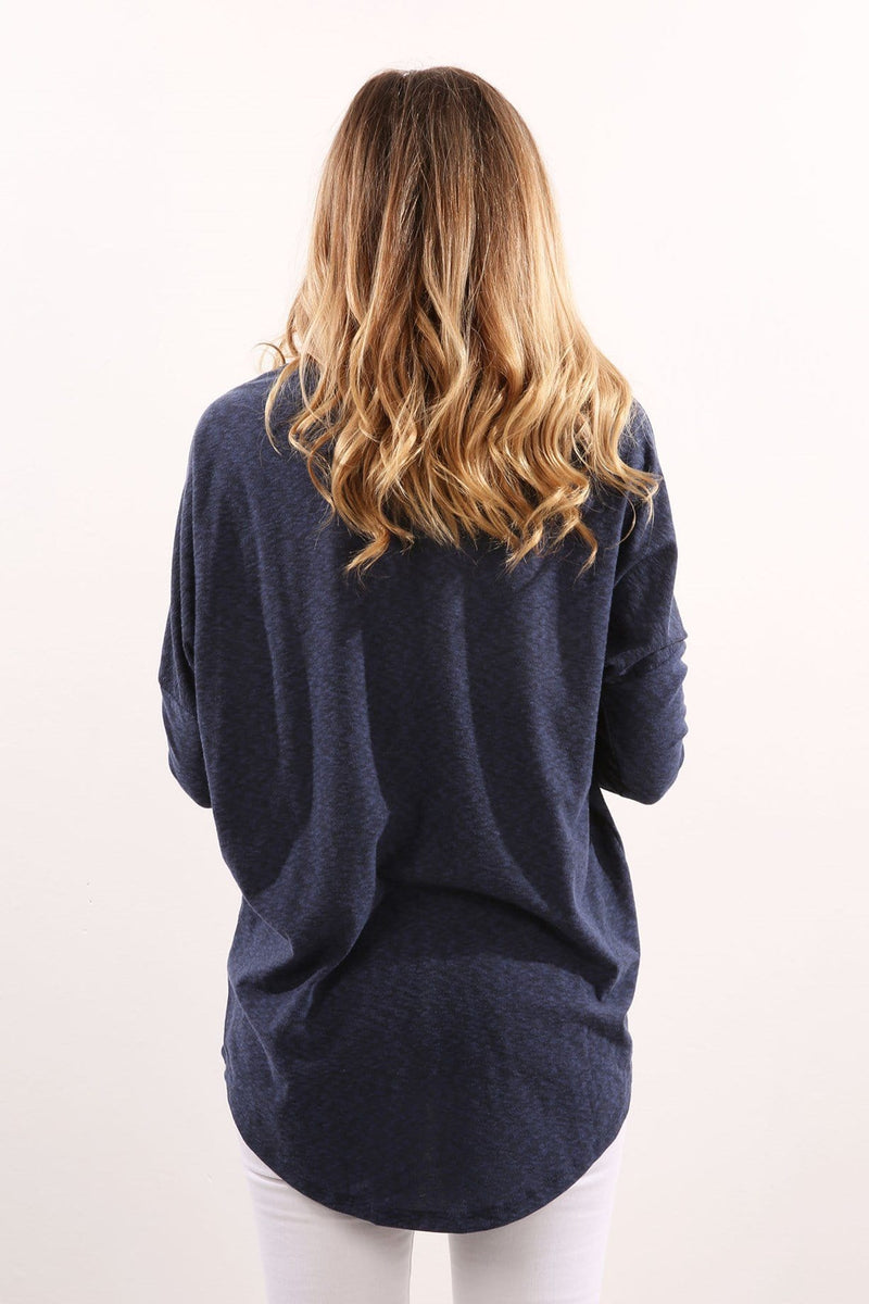 All Over Again Long Sleeve Top Navy Silent Theory - Jean Jail