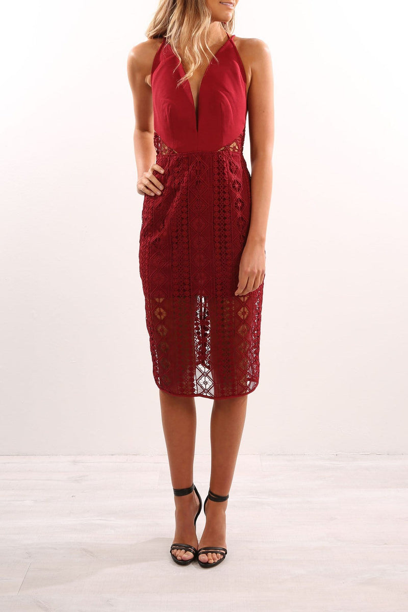 Bosnia Midi Dress Raisin Finders Keepers - Jean Jail