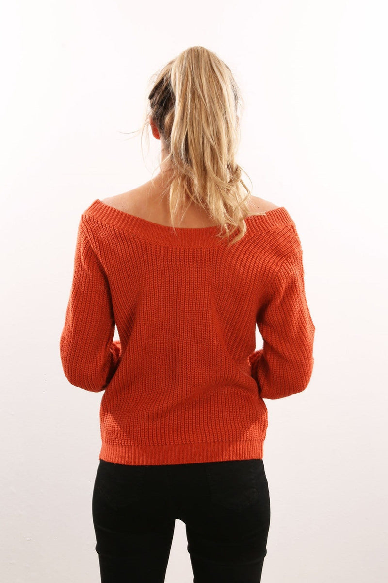 Making It Mine Knit Rust Jean Jail - Jean Jail