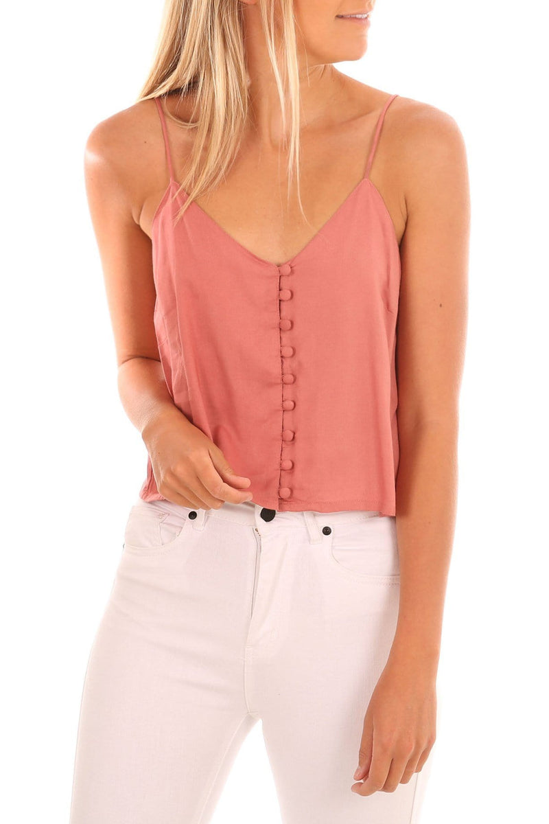 Intermission Crop Cami Pink All About Eve - Jean Jail