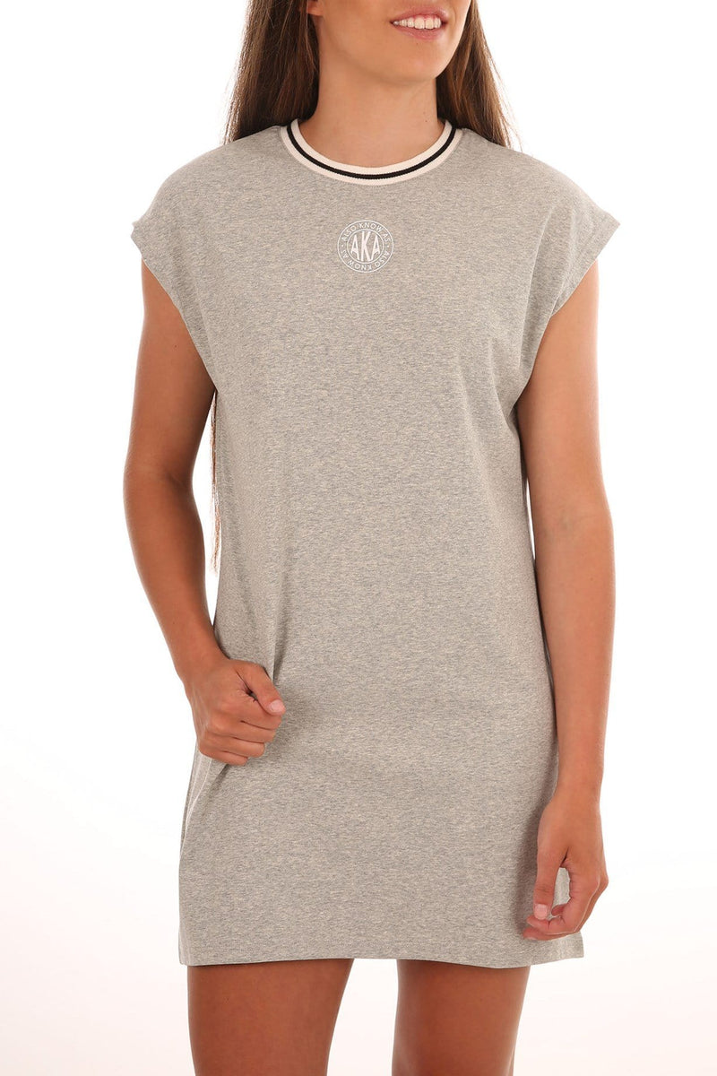 Camden Tee Dress Grey Marle Jean Jail - Jean Jail