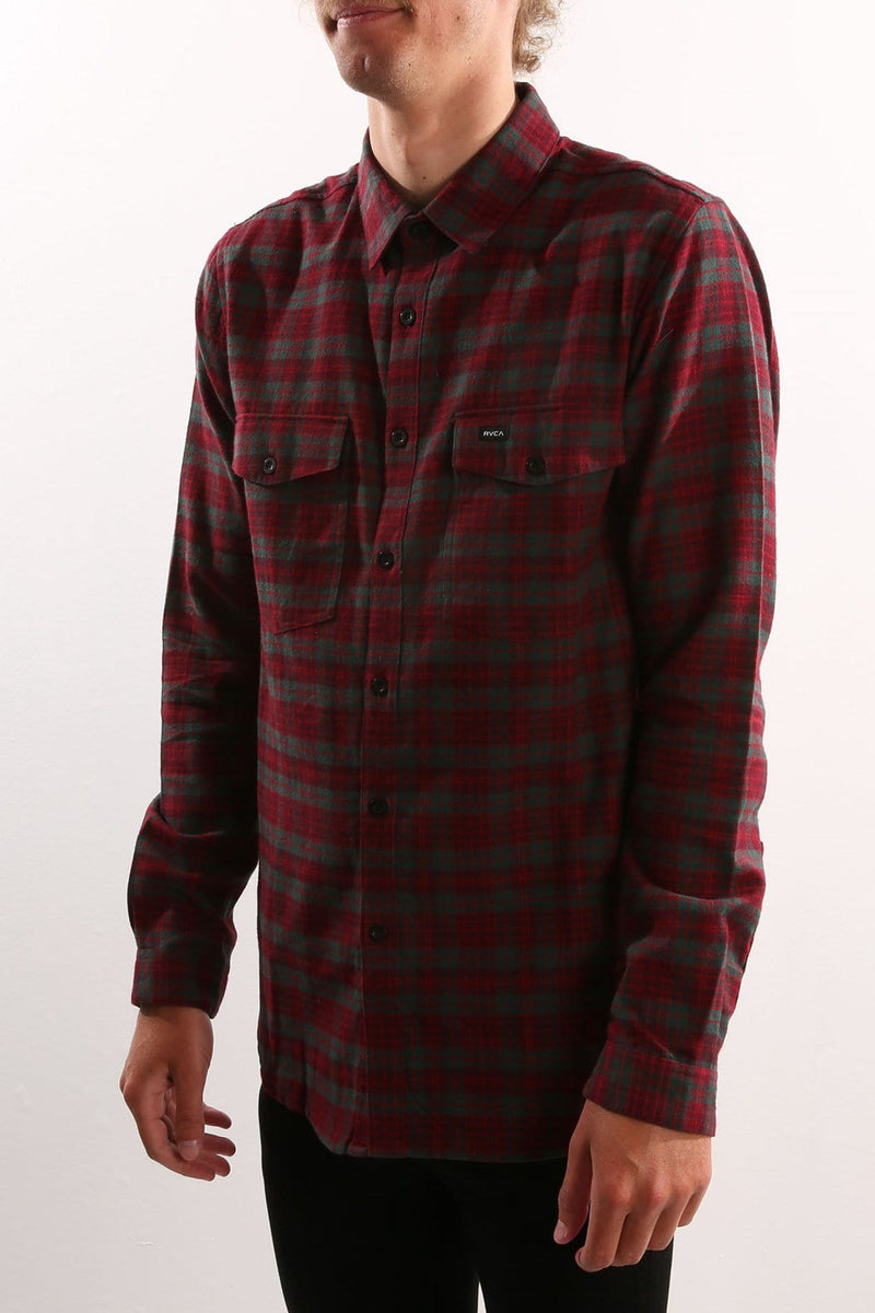 Hacked Long sleeve Shirt Blood Red RVCA - Jean Jail
