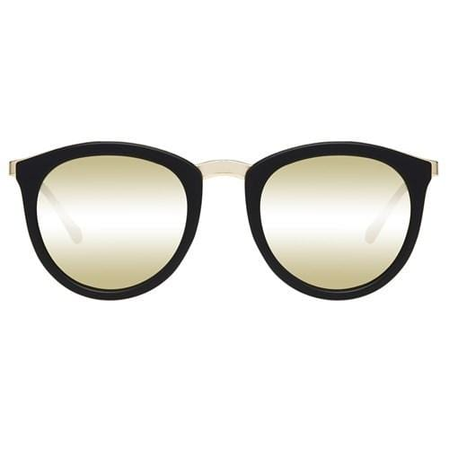 No Smirking Matte Black // Gold Revo Mirror Le Specs - Jean Jail