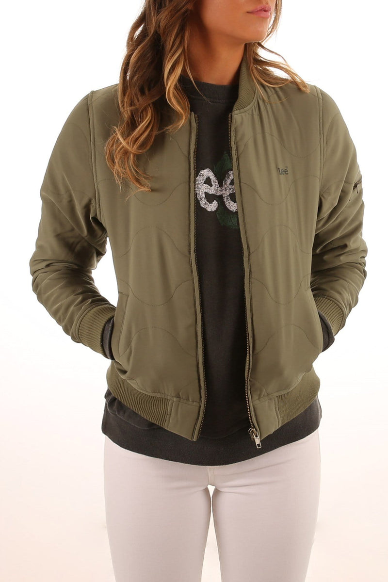 Quilted Bomber Khaki Lee - Jean Jail