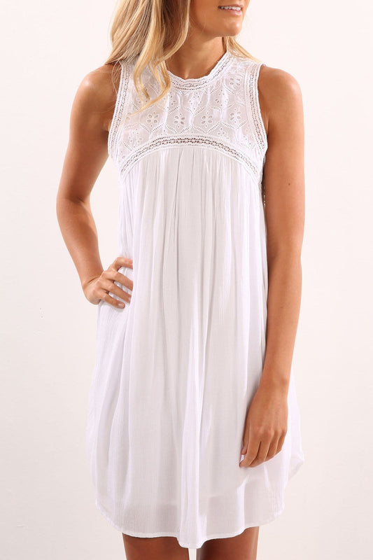 Sunset Path Dress White