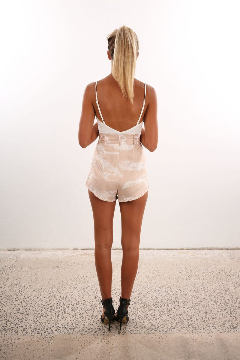 After Hours Playsuit Nude White Jean Jail - Jean Jail