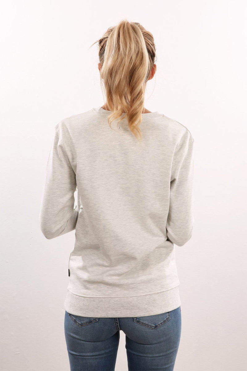 S.O Crew Sweater White Marle Afends - Jean Jail