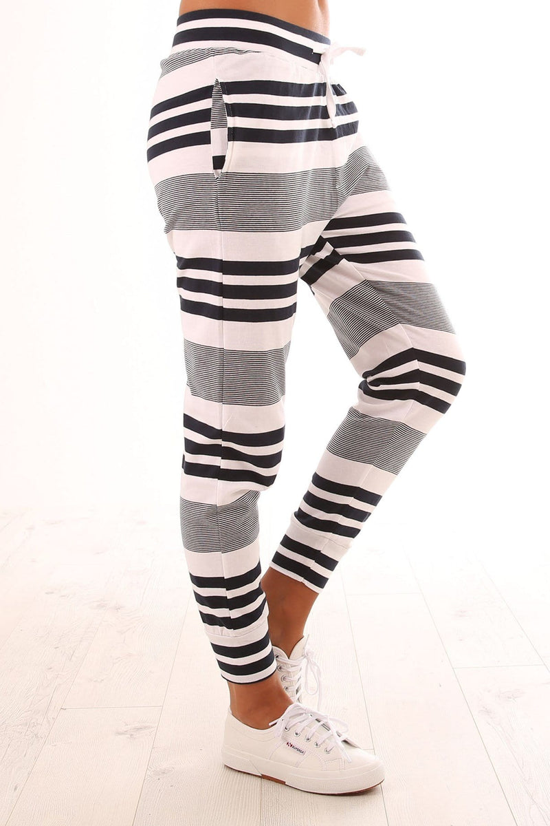 Fever Stripe Pant Navy White Stripe Silent Theory - Jean Jail