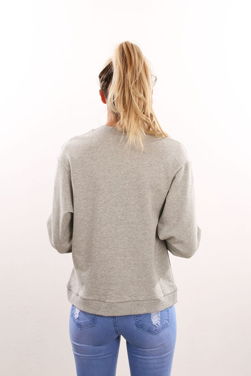 Picture This Jumper Grey Marle The Fifth Label - Jean Jail