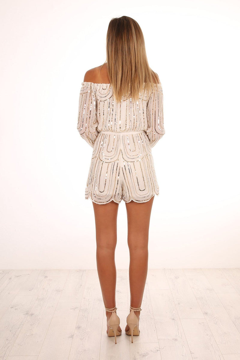 Sea Reflections Playsuit White Jean Jail - Jean Jail