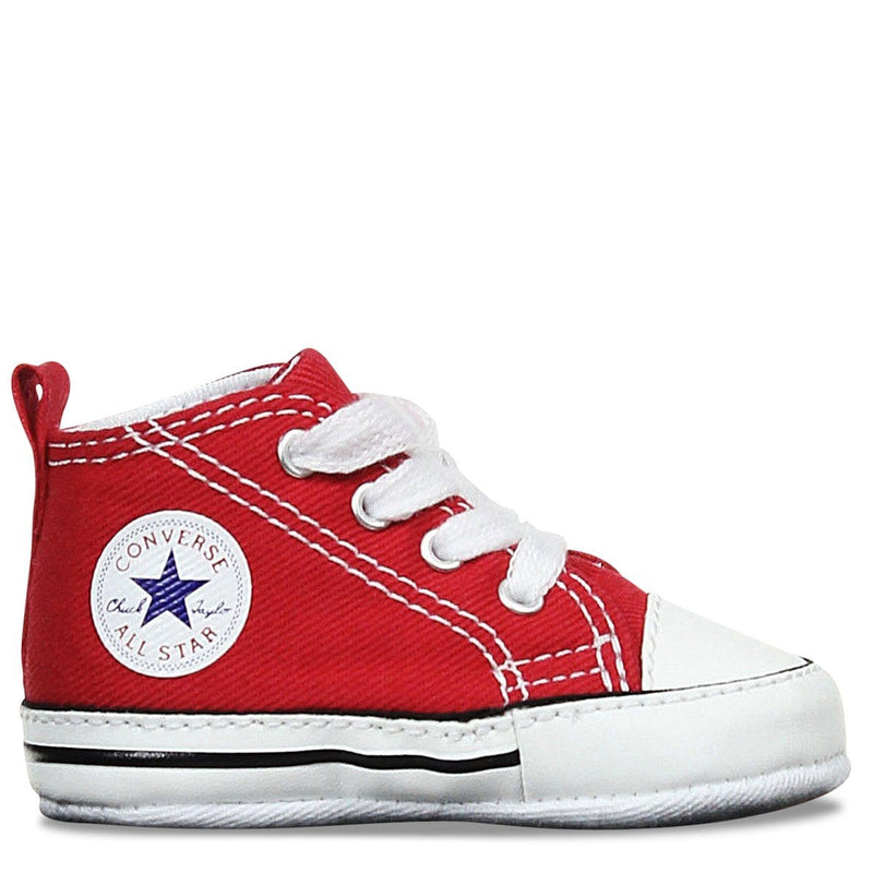 Toddler Crib CT Core Canvas Hi Red Converse - Jean Jail