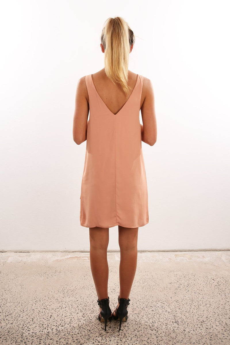 Relaxed Dress Peach Jean Jail - Jean Jail