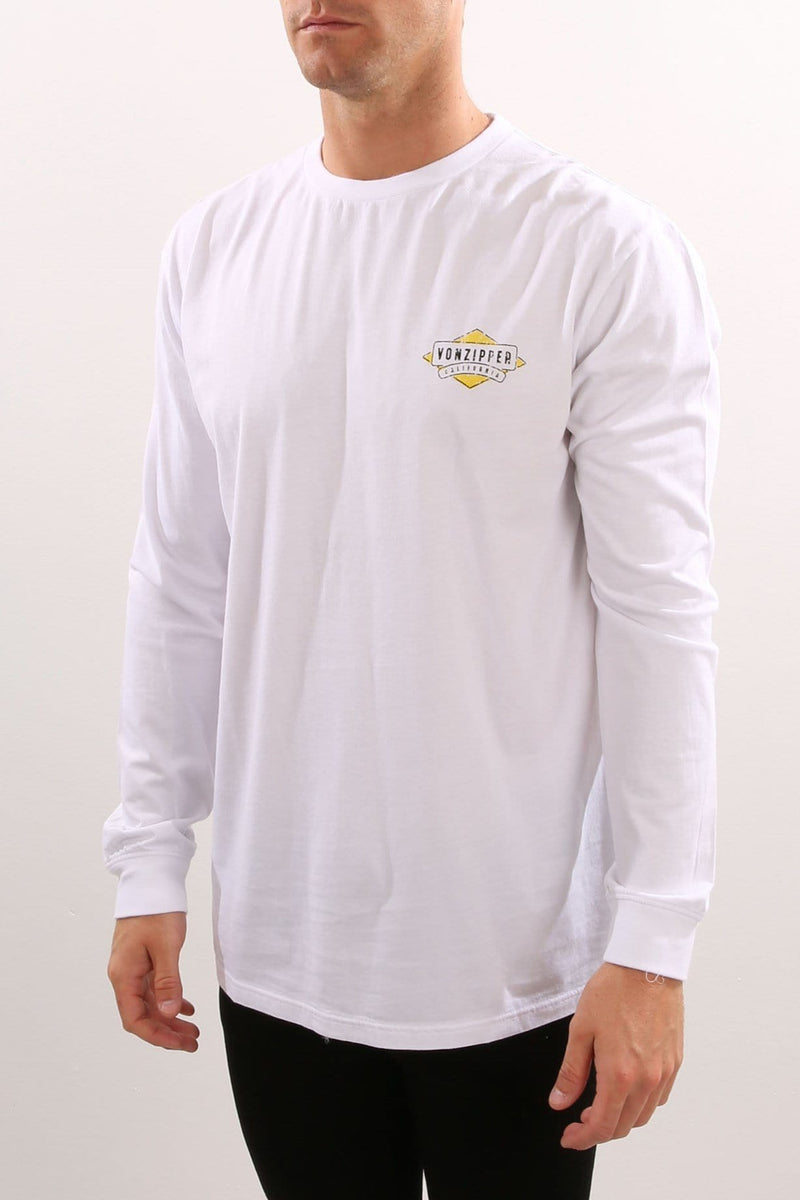 Mellow Long Sleeve Tee White Von Zipper - Jean Jail