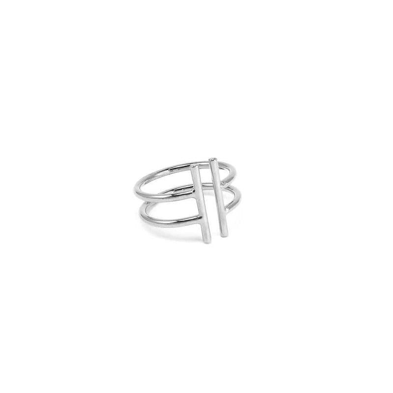 Double Line Ring Silver Jolie & Deen - Jean Jail