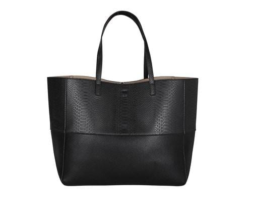 Bromley Hobo Black Embossed Snake Elms & King - Jean Jail