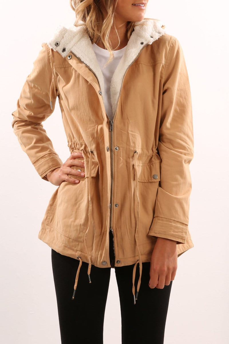 Edwards Parka Tan All About Eve - Jean Jail