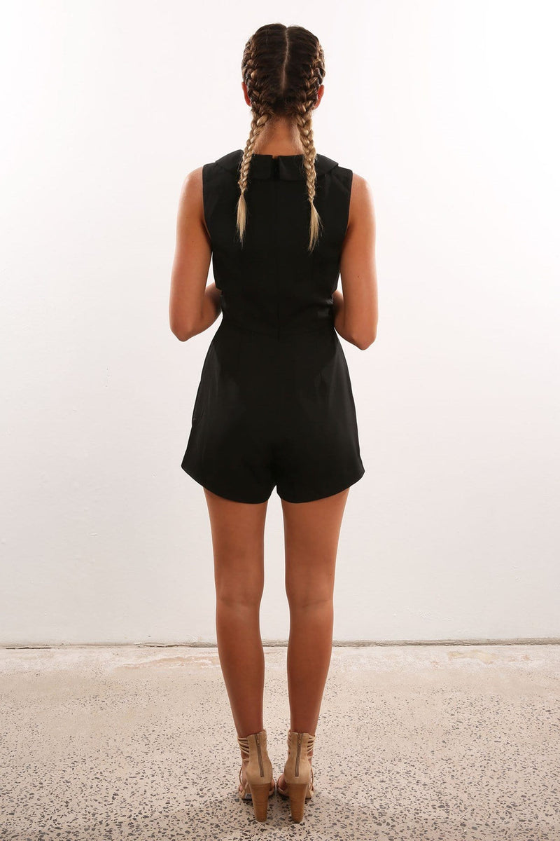The Logic Playsuit Black Finders Keepers - Jean Jail