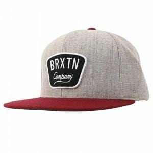 Gaston Snapback Heather Grey Burgundy Brixton - Jean Jail