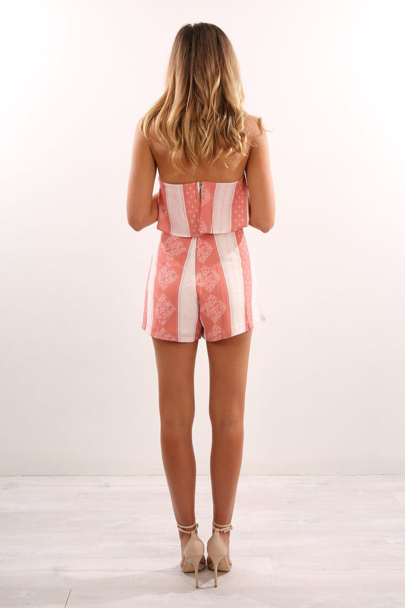 Southern Playsuit Peach Jean Jail - Jean Jail