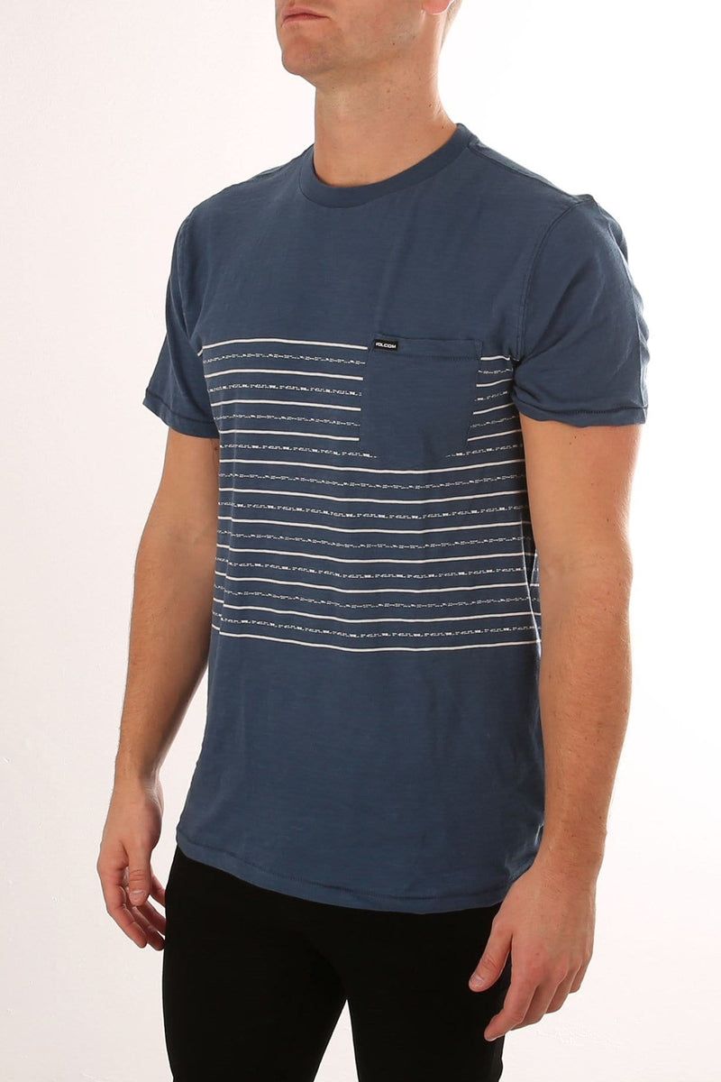 69e591b28154 Threezy Crew Tee Smoker Blue - Jean Jail