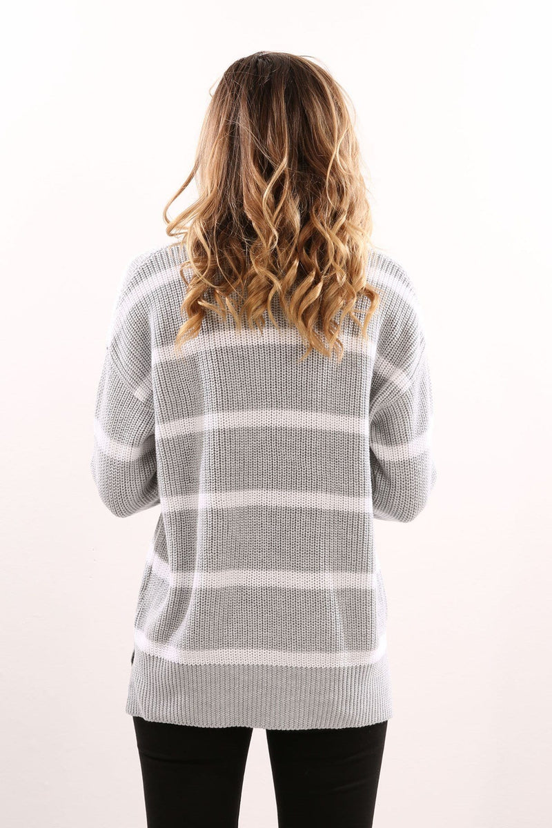 Joanna Knit Grey White