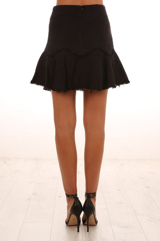 Dont Miss You Skirt Black