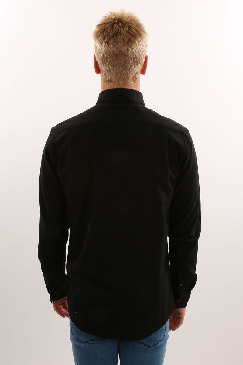 Rasmus Long Sleeve Shirt Black Afends - Jean Jail