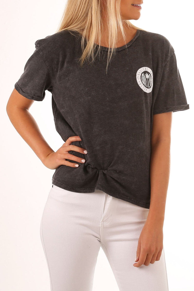 Always Rad Tee Black Volcom - Jean Jail