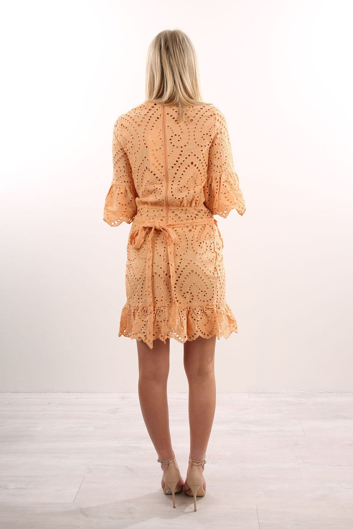 Valerie Wrap Dress Apricot