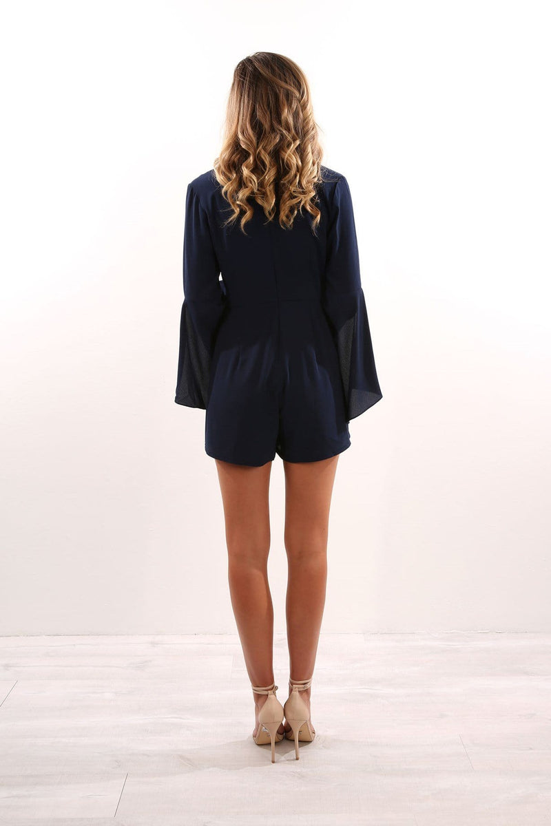 Guessing Game Playsuit Navy Jean Jail - Jean Jail