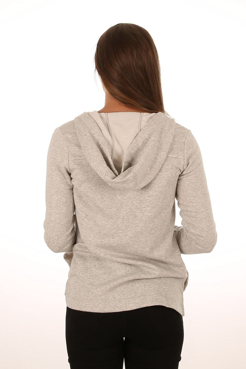 One & Only Top FZ Fleece Grey Heather Hurley - Jean Jail