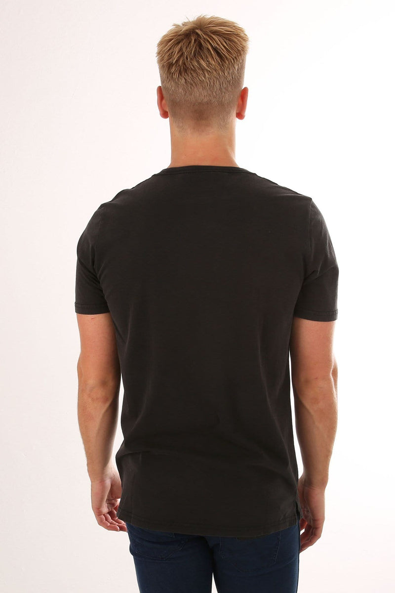 Goodstock Snow Tee Washed Black Globe - Jean Jail