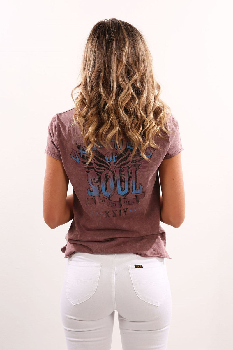 Soul Tee Burgundy All About Eve - Jean Jail