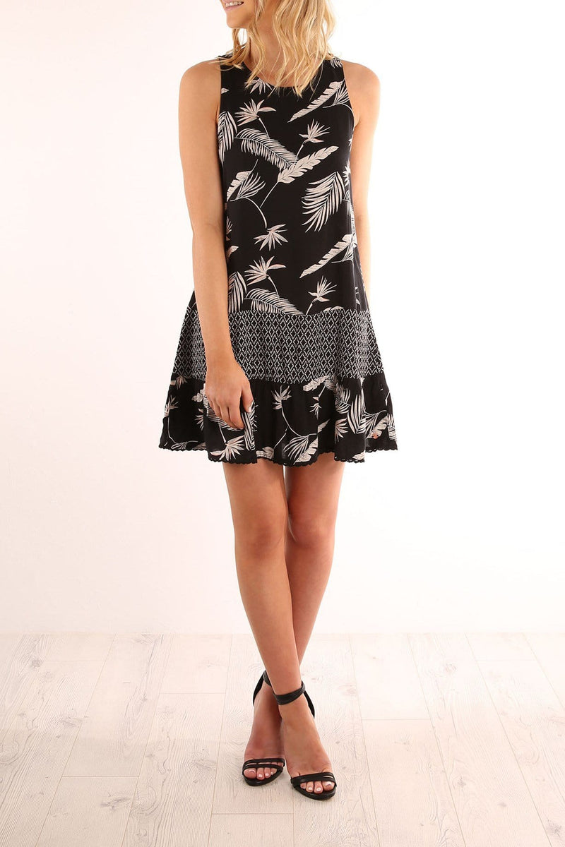Diamond Tropic Dress Black Volcom - Jean Jail
