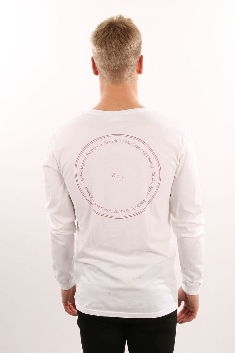 Stamp Long Sleeve T-Shirt White Rhythm - Jean Jail