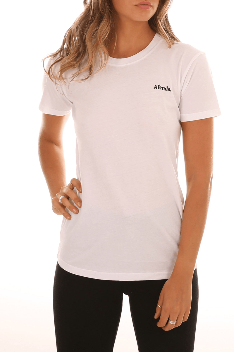 Virtue Boyfriend Fit Tee White Afends - Jean Jail